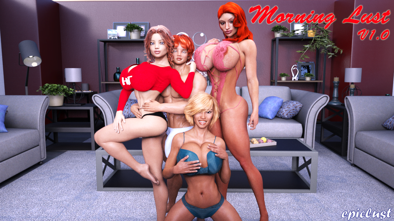 Morning Lust – Version 1.0 - Free patreon Brother-Sister Mom-Son incest erotic game 1