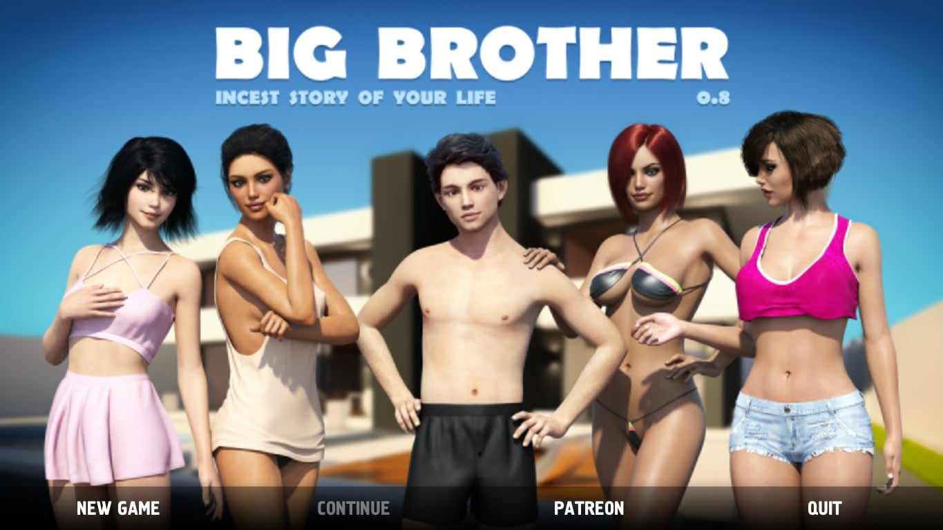Big Brother – Version 0.8.0.005 – Cracked + Mod - Brother-Sister Mom-Son family incest game 4